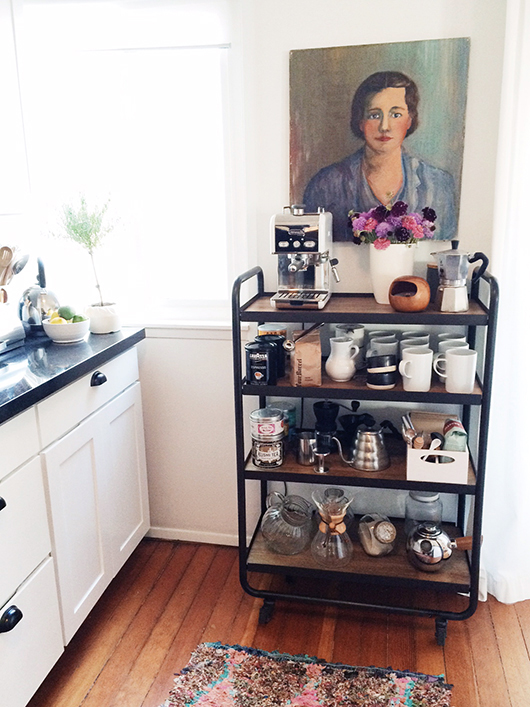 diy kitchen coffee cart / sfgirlbybay