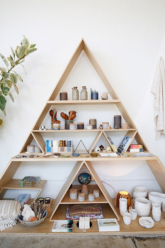 Spotted general store sfgirlbybay - Triangular bookshelf ...