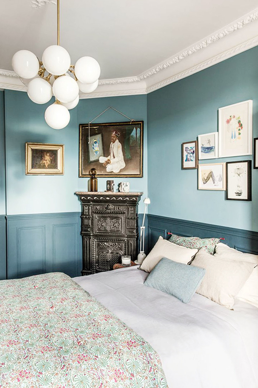 aqua colored bedroom / sfgirlbybay