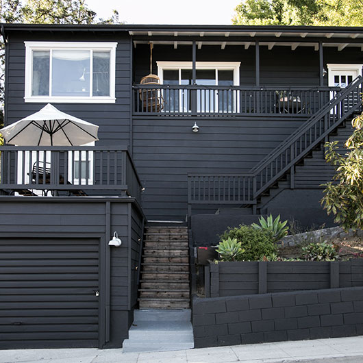 Paint it black sfgirlbybay - Exterior wood paint black ...