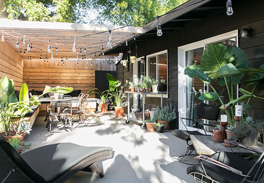 my black house and industrial modern patio decor / sfgirlbybay