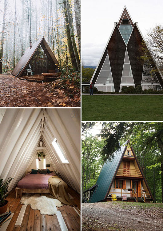 assorted a-frame cabins and decor / sfgirlbybay