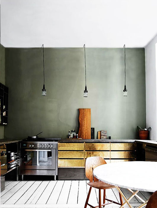 metallic lower kitchen cabinets / sfgirlbybay