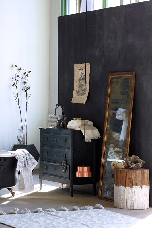black washed wood dresser with gold mirror from anthropologie. / sfgirlbybay