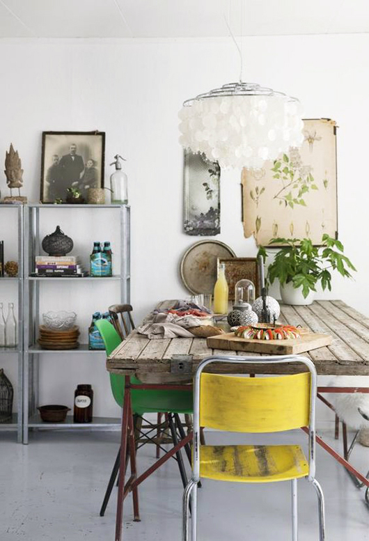 dining space with tropical vibe / sfgirlbybay