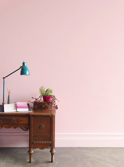 pink wall paint inspired by brazil / sfgirlbybay