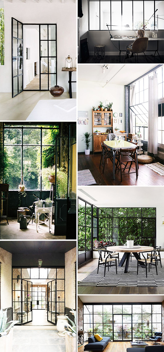 black framed window casings inspiration / sfgirlbybay