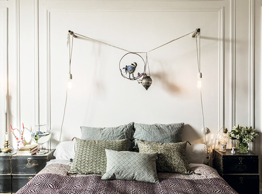 bohemian modern bedroom decor via milk decoration. / sfgirlbybay