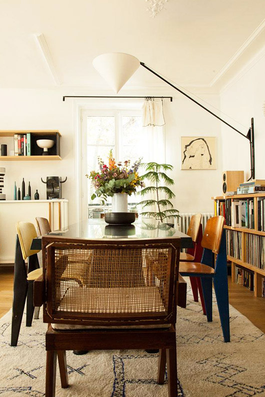 bright and modern paris apartment with eclectic decor. / sfgirlbybay