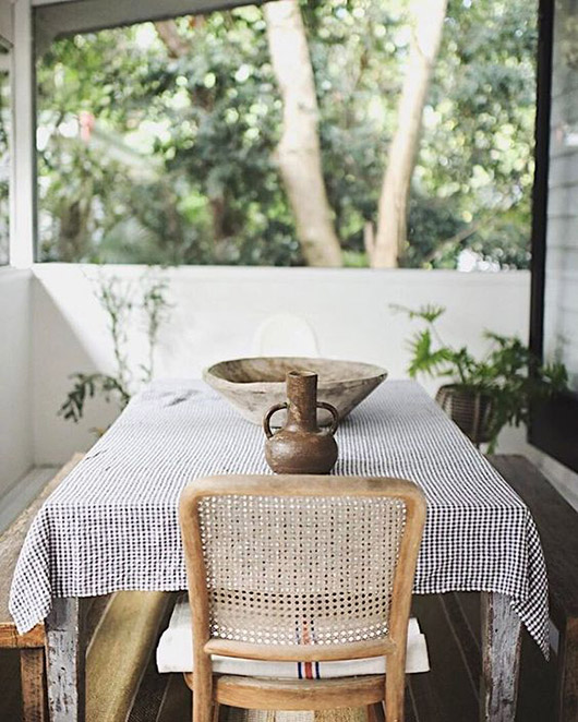 covered porch dining area. / sfgirlbybay